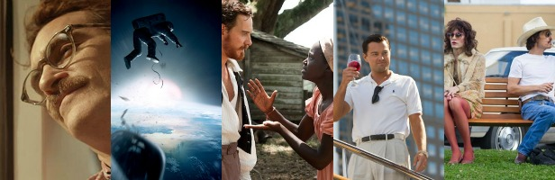 From+left+to+right%3A+Joaquin+Phoneix+in+%22Her%22%2C+a+scene+from+%22Gravity%22%2C+Michael+Fassbender+and+Lupita+Nyong%27O+in+%2212+Years+a+Slave%22%2C+Leonardo+DiCaprio+in+%22The+Wolf+of+Wall+Street%22+and+Jared+Leto+and+Matthew+McConaughey+in+%22Dallas+Buyers+Club%22