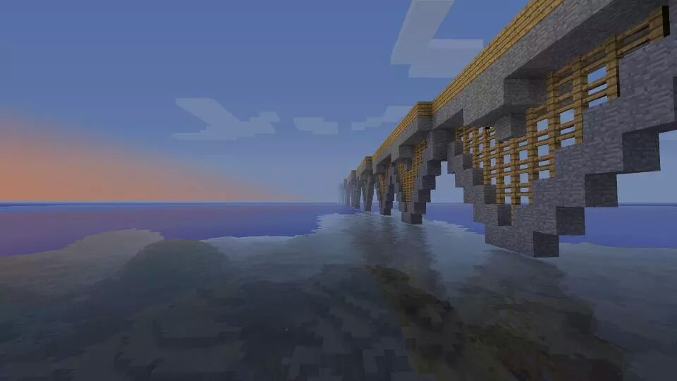 An+artistic+vista+from+a+world+in+the+popular+video+game+%22Minecraft%22.