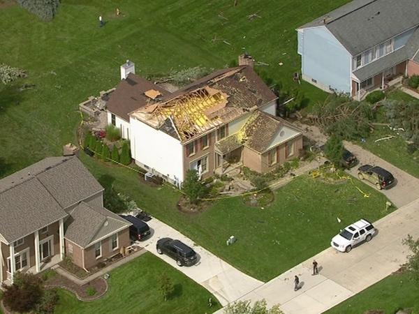 AHS student Julian Benevides' home after being hit by an EF-1 tornado.
