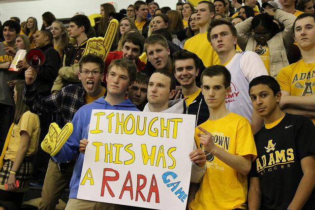 RARA+fans+hold+up+a+sign+promoting+RARA+during+the+Crosstown+Showdown.