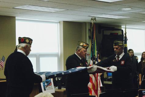 Adams salutes war veterans