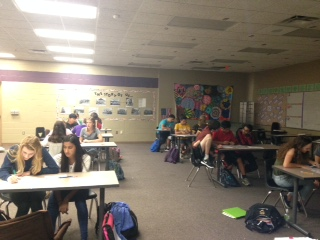 Mrs. Schwartz's classes are overfilling with students.