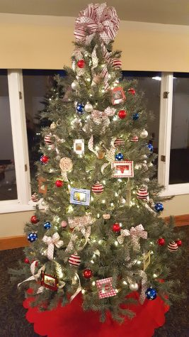 The Rochester Adams High School art students donated a Christmas tree with the ornaments handcrafted by the students.
