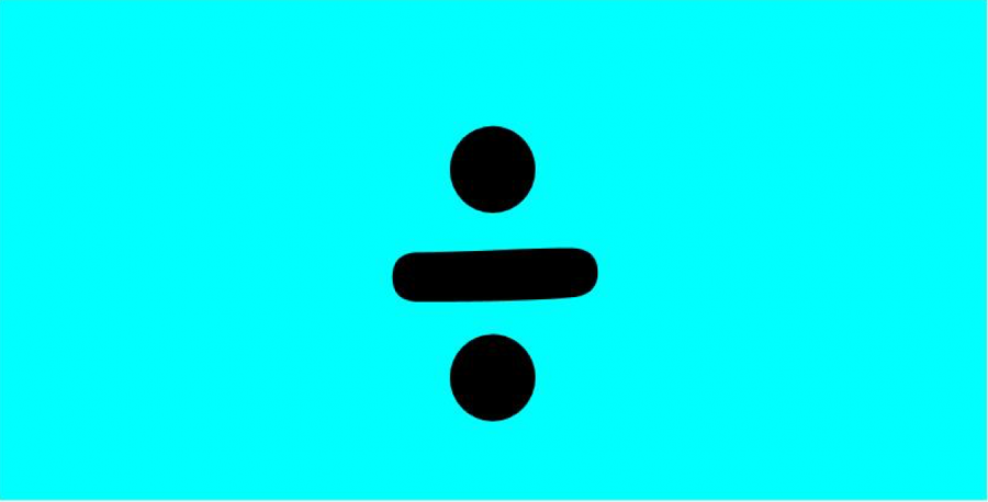 The+album+cover+for+Ed+Sheeran%27s+new+music+is+predicted+to+feature+a+division+symbol+with+a+blue+background.
