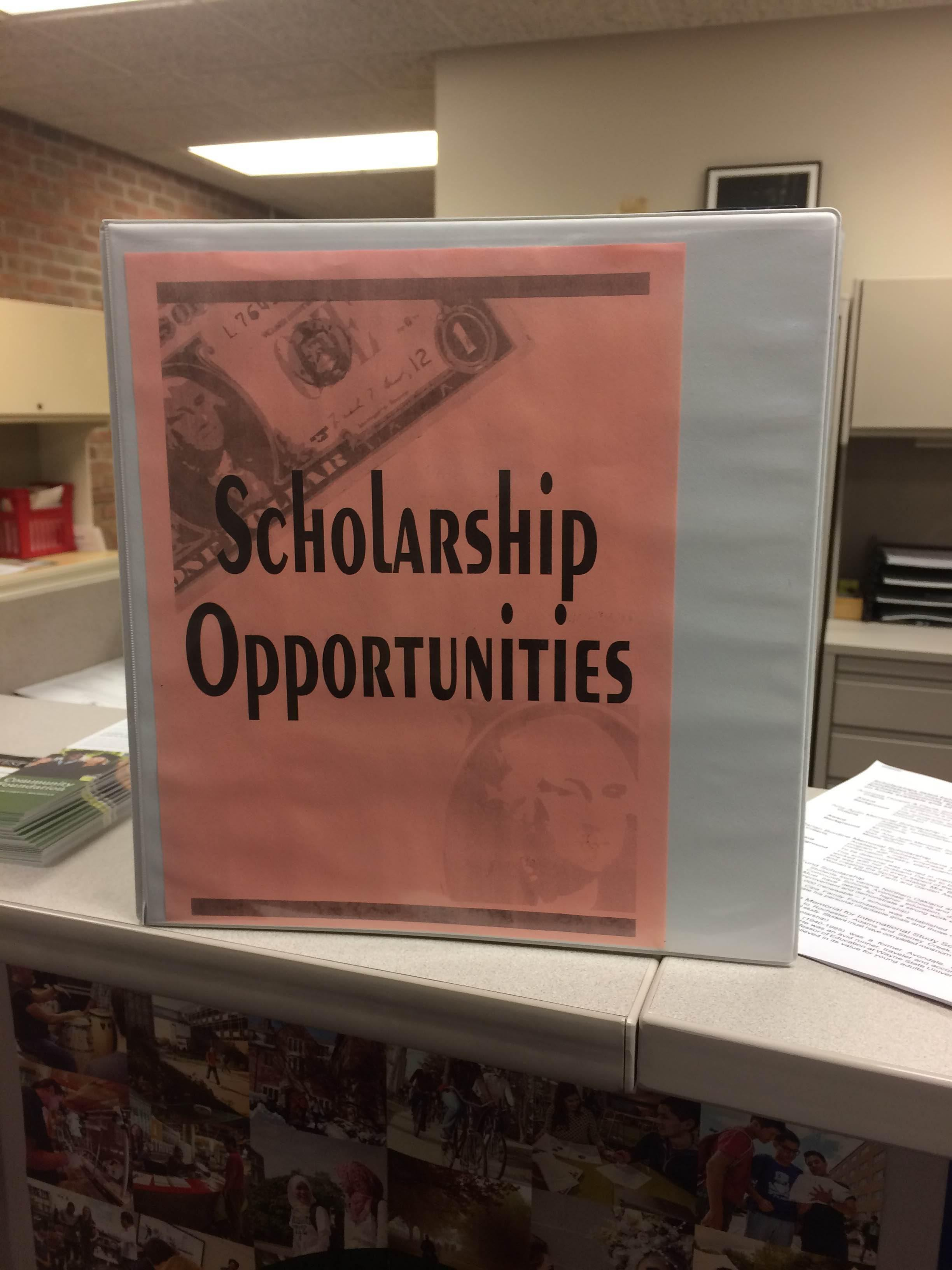 Scholarship opportunities can be found in the counseling office.