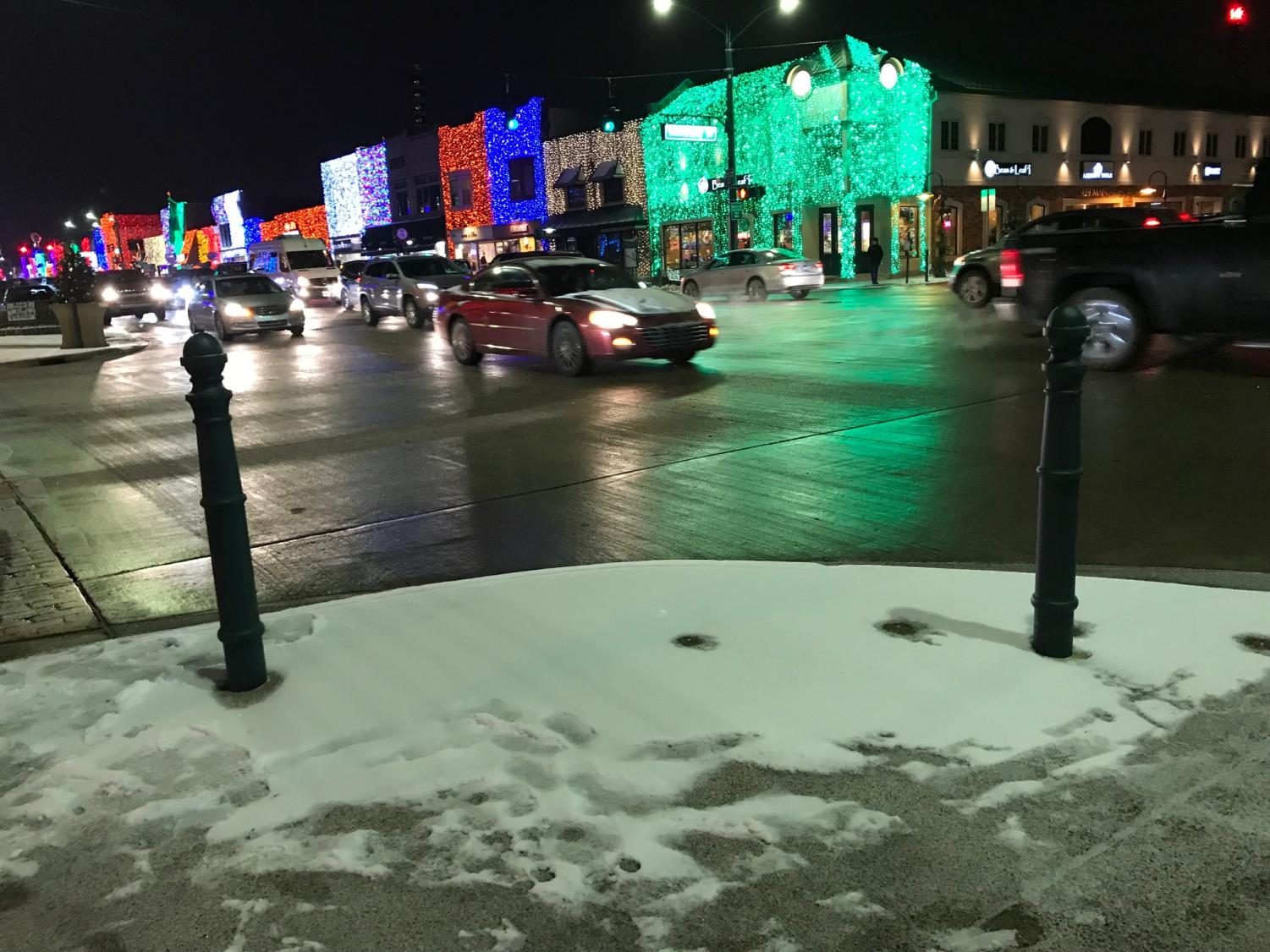 Holiday Traffic in downtown Rochester.