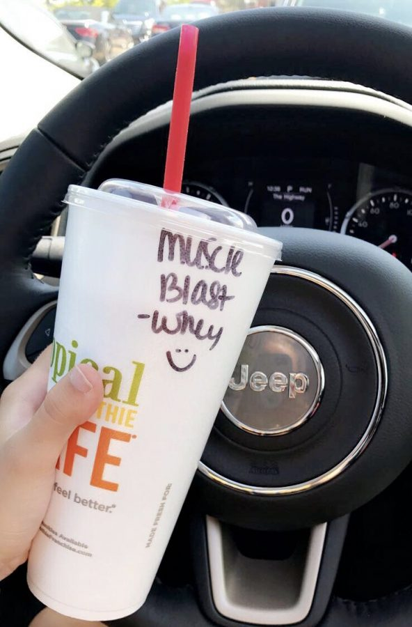 A+smoothie+from+Tropical+Smoothie+Cafe+is+a+perfect+option+to+boost+energy+in+the+morning.