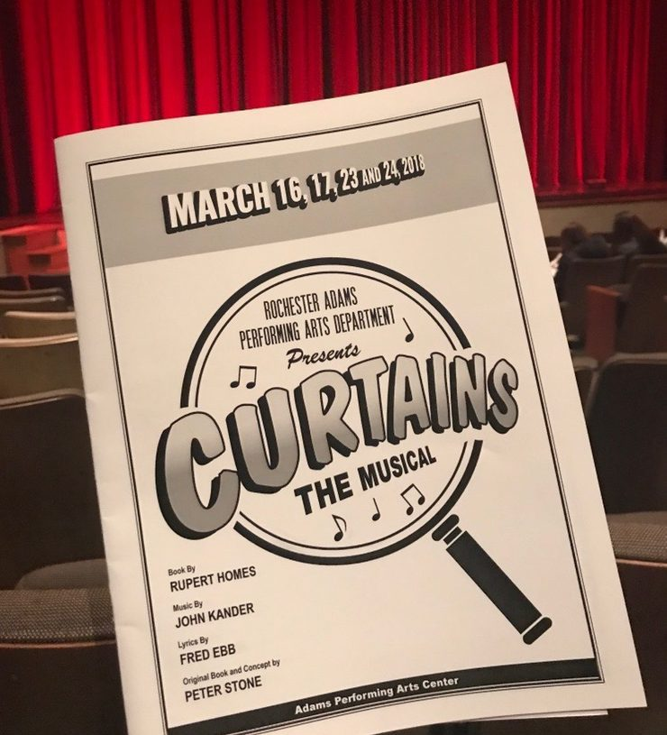 Adams Theatre performed Curtains in March 16, 17, 23, and 24.