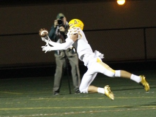 One-handed game winning catch made by senior receiver Jack Bishop.