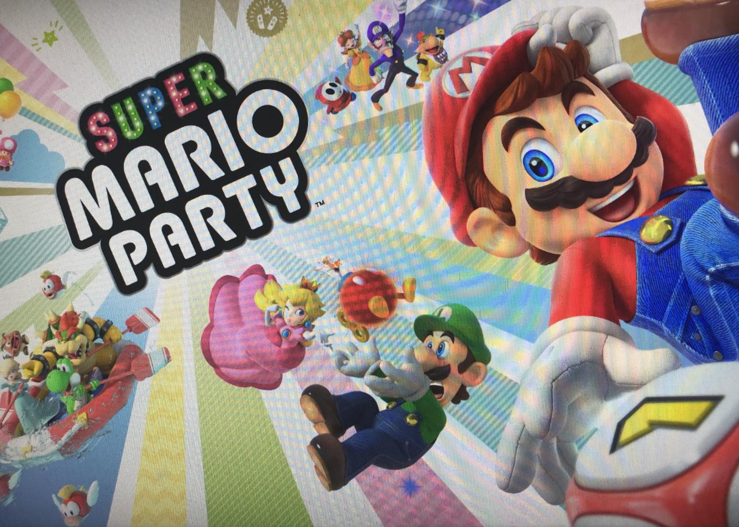 Super Mario Party title screen.