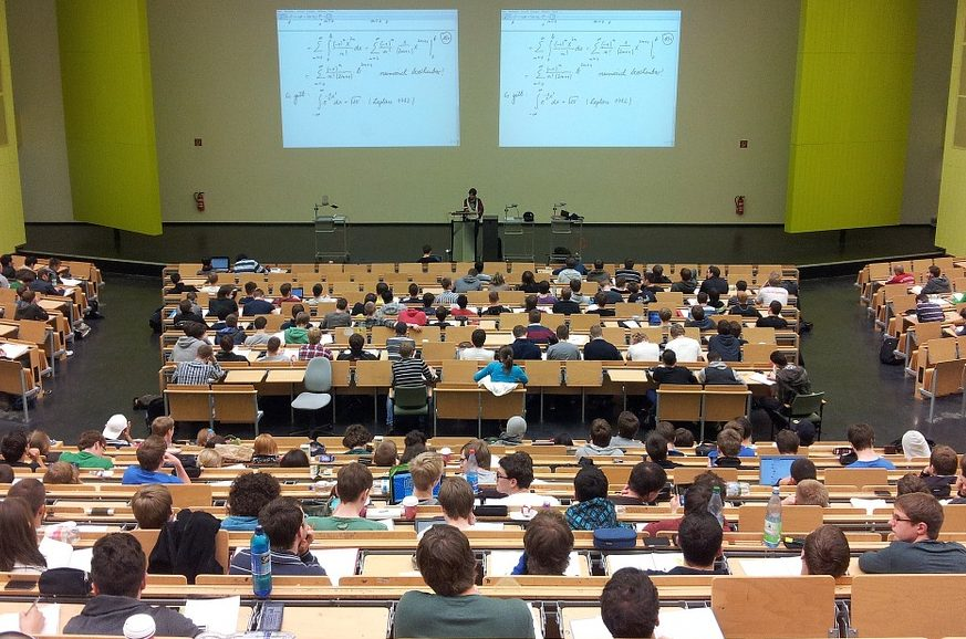 High school classrooms are becoming more like college lecture halls as class sizes increase.