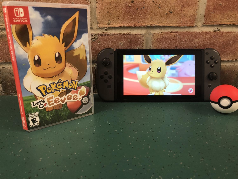 A copy of Pokémon Let's Go Pikachu.