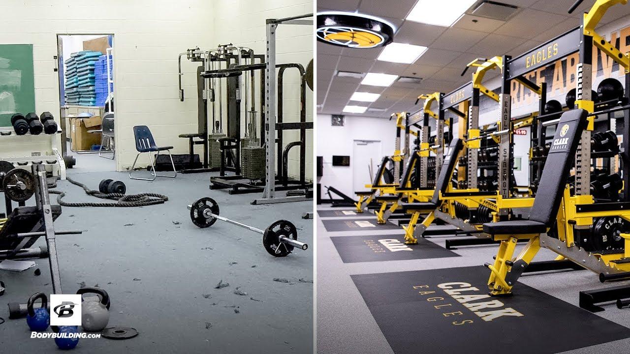 Intercity High school, complete custom weight room makeover
