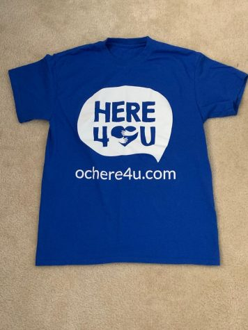 T-shirts that students received to spread the word for Here4U