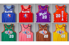 2020 NBA All-Star weekend jerseys