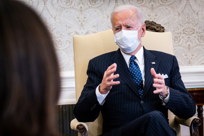 Biden meets with business leaders to discuss the need for the American Rescue Plan