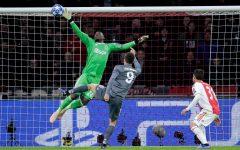 Photo of Onana making an incredible save in Ajax's Champions League semi-final run in 2019. Credits: Mathew Nash