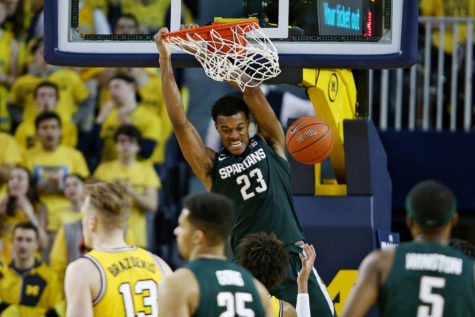 Michigan State upsets Michigan 77-70