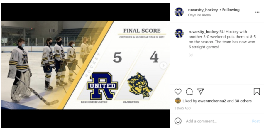 Rochester United beats Clarkston to extend the teams winning streak to 6 games