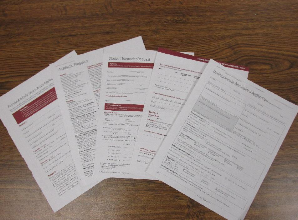 Students must fill out a multitude of forms in order to apply for college.