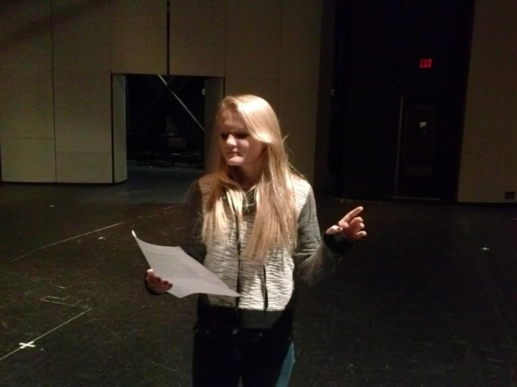 Oliwia+Pisko+rehearses+lines+for+The+Penny+Dreadfuls.
