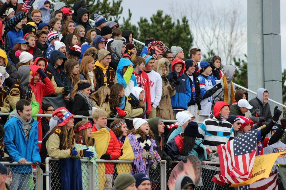 The AHS student section filled to the brim during the RAMS' state championship game.