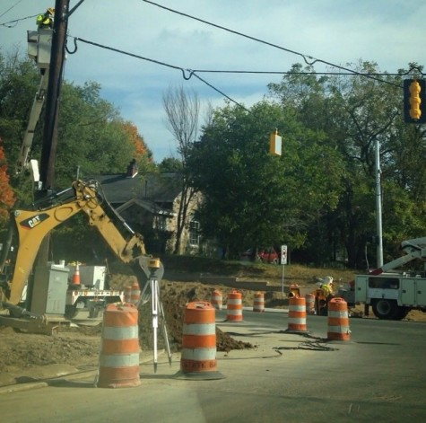 Construction obstructs morning commute