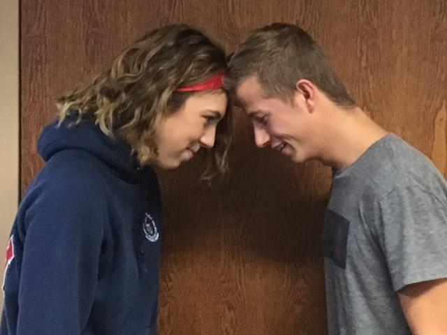 Nick Schram and Emily Blust battle it out over Homecoming proposals.