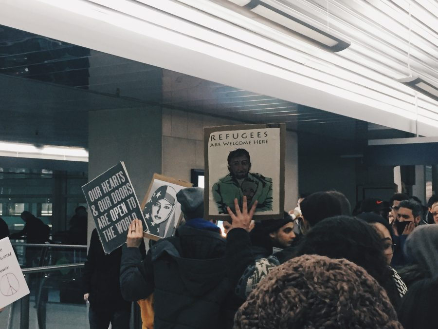 A+protest+against+the+%22Muslim+Ban%22+that+occurred+January+29%2C+2017+at+DTW.