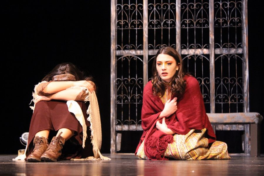 Junior Sophia Williams and senior Maria Gracia Renya command the stage as the Wild One and Twitting while performing.