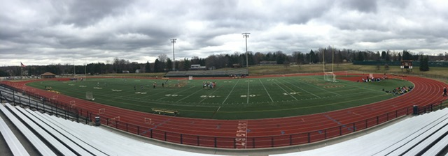 The Adams' track and field space as the track, soccer, and lacrosse teams begin their practices.