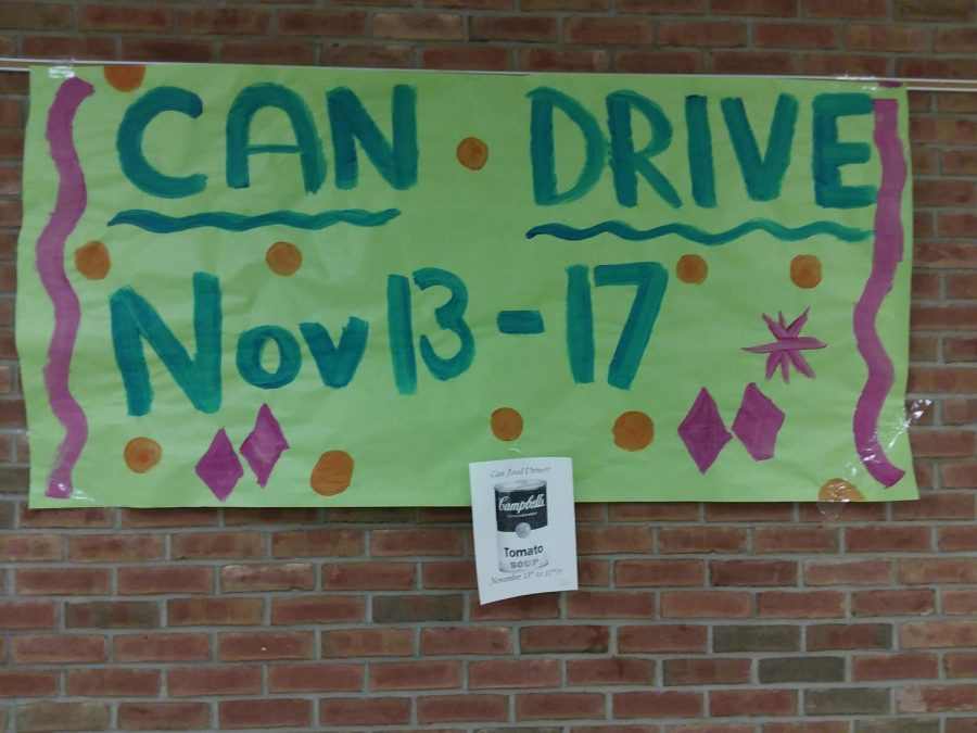 Can+Drive+banner+created+by+student+council.