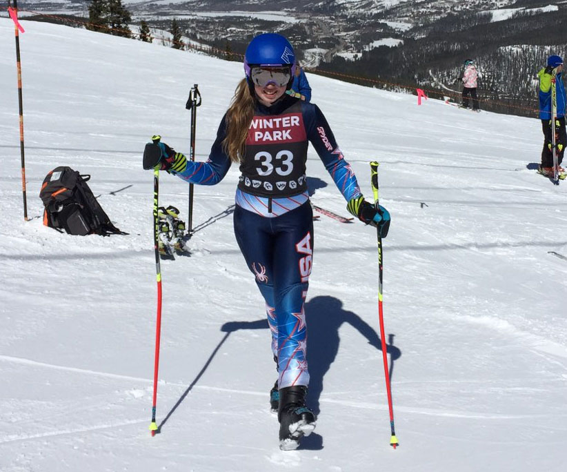 Kaylee crushing it on the slopes in Colorado for ski championships.