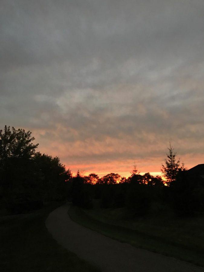 Sunset in the beginning of December.
