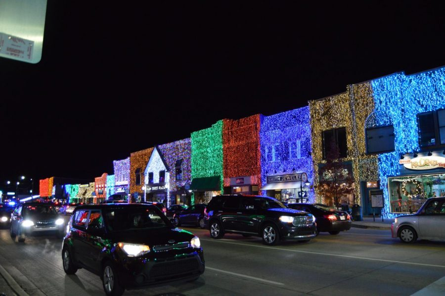 The Big Bright Light Show in downtown Rochester.