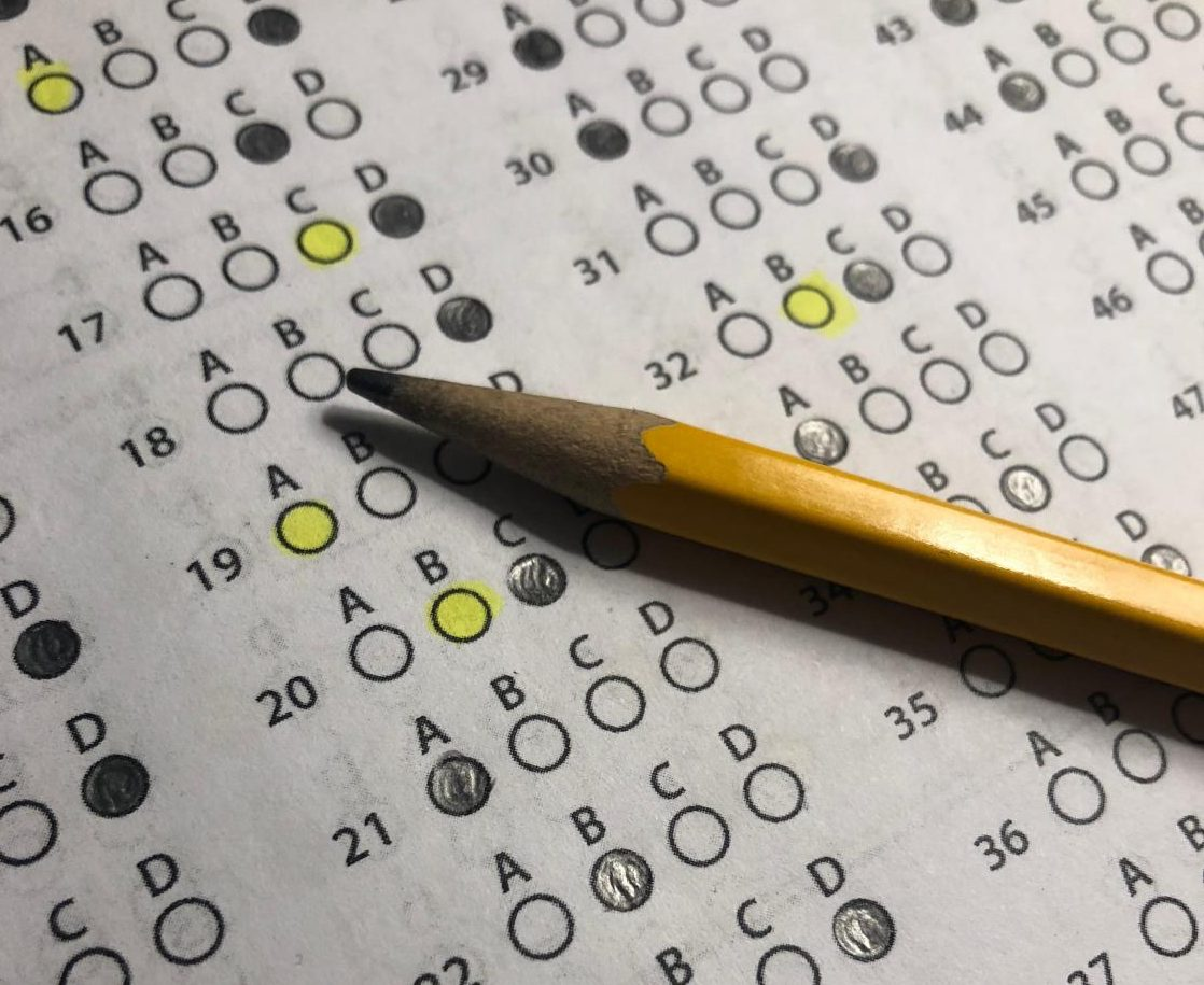 Scantron from standardized test.