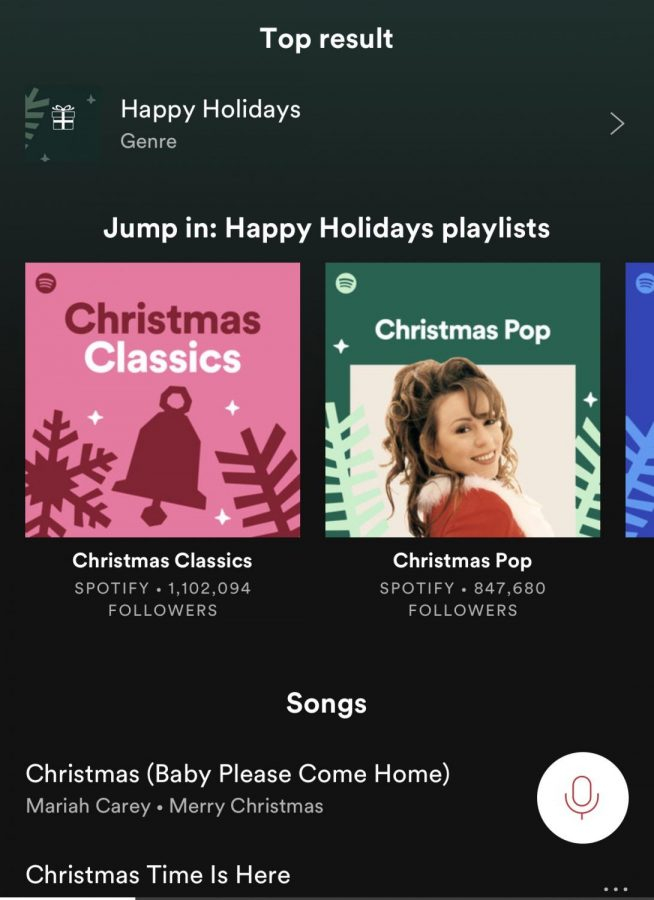 Spotify+offers+dozens+of+playlists+and+hundreds+of+songs+for+Christmas.