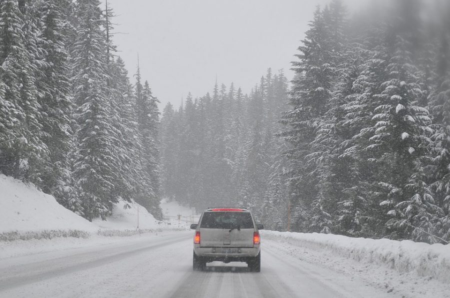 eLearning would reduce the amount of students dangerously driving to school on snowy days.