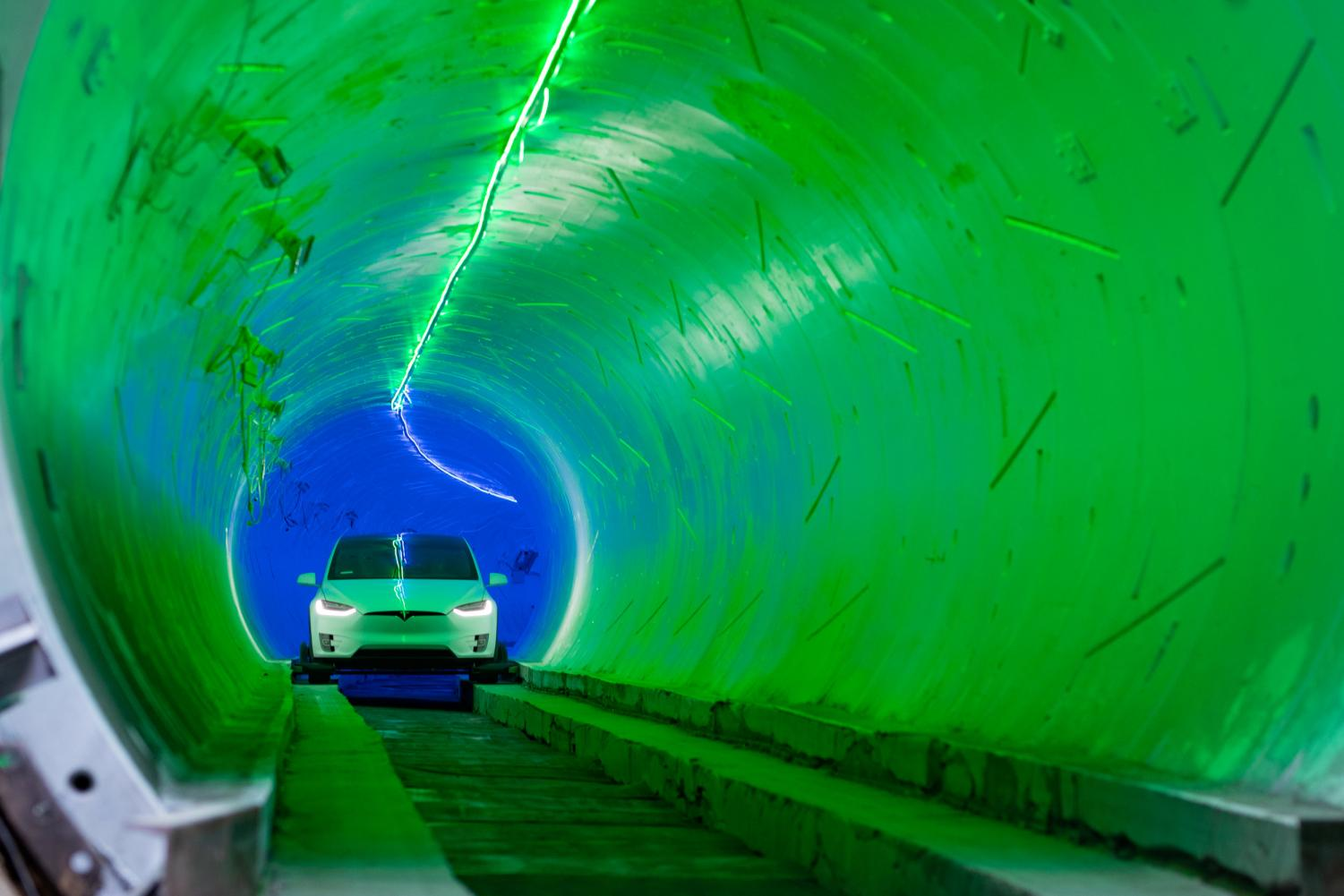 Image from inside the Hawthorne test tunnel.
