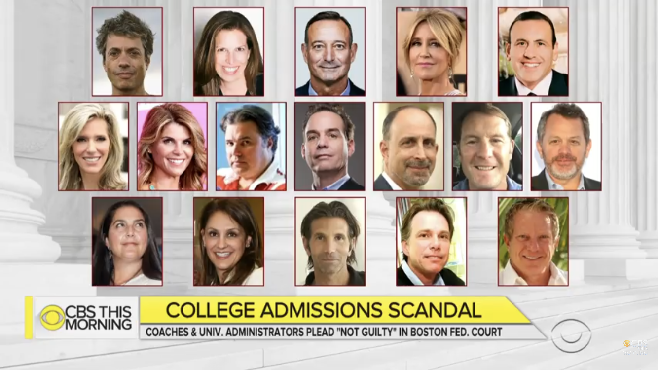 Just some of the few adults involved in the college admissions scandal.