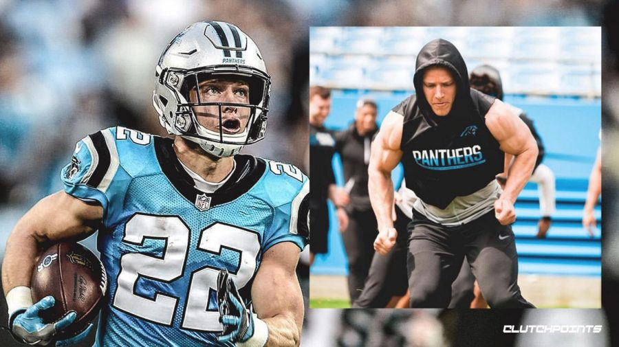 Carolina Panthers star running back Christian McCaffrey.