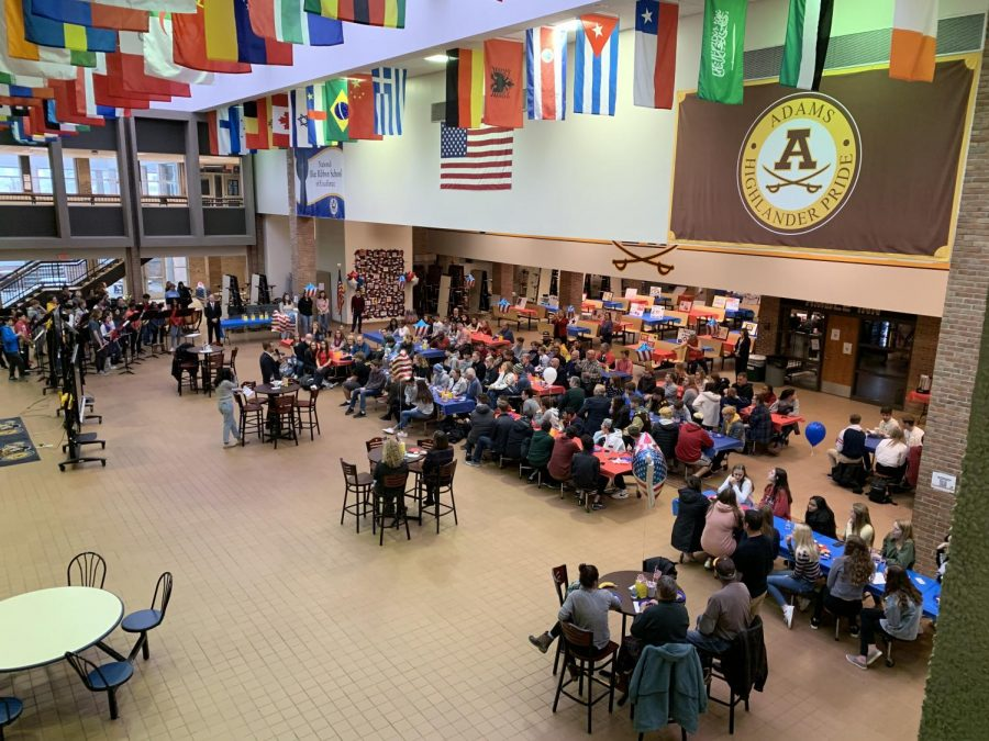 Continental breakfast with students and military family members