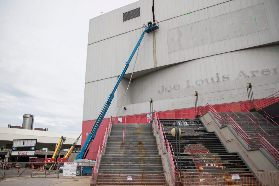 Joe Louis Arena has seen it's better days, much like the team that used to play there.