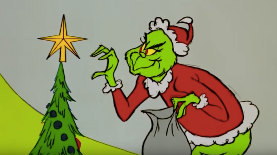"Grinch stealing a star like ""porch pirates"" steal people's Christmas gifts."