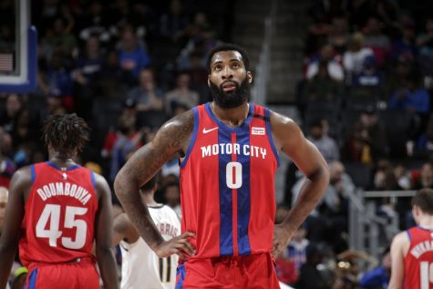 Drummond donns the Pistons: City Edition uniform alongside Rookie Sekou Doumbouya