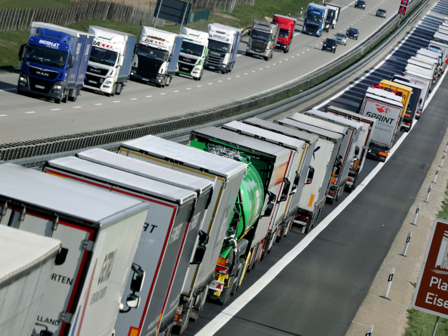 Freight trafficking is backed up due to Germany's recent shutdowns, but they cannot afford to stop again.