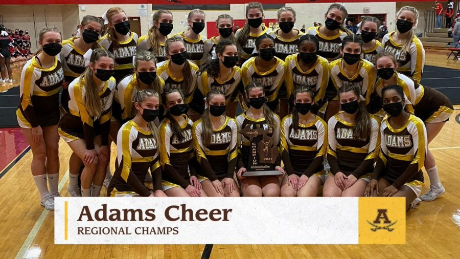 Adams wins the Regional championship for the second year in a row.